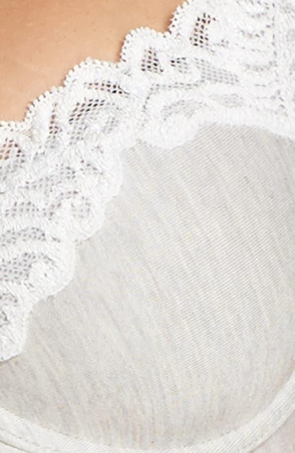 Feathers Essence Contour Underwire Demi Bra,                             Alternate thumbnail 7, color,                             Feather Grey/ Warm White