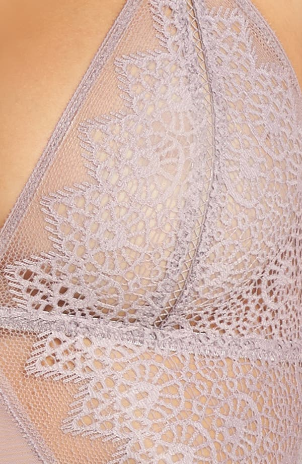 Alternate Image 5  - Calvin Klein Longline Lace Triangle Bralette