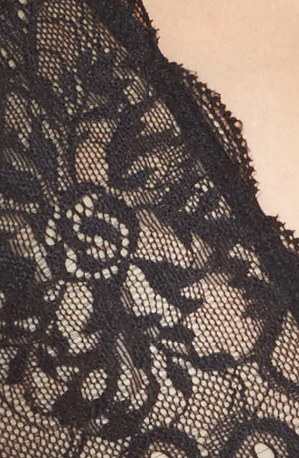 Sophia Lace Underwire Bralette,                             Alternate thumbnail 5, color,                             Black