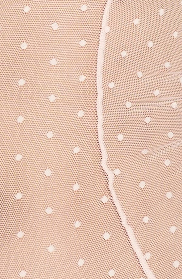 Honeydew Dot Mesh Ruffle Bodysuit,                             Alternate thumbnail 5, color,                             Quartz