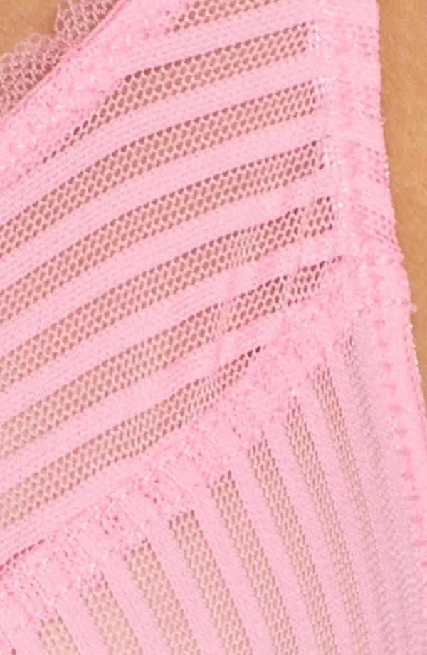 Shiny Stripe Underwire Bra,                             Alternate thumbnail 10, color,                             Bubblegum Pink