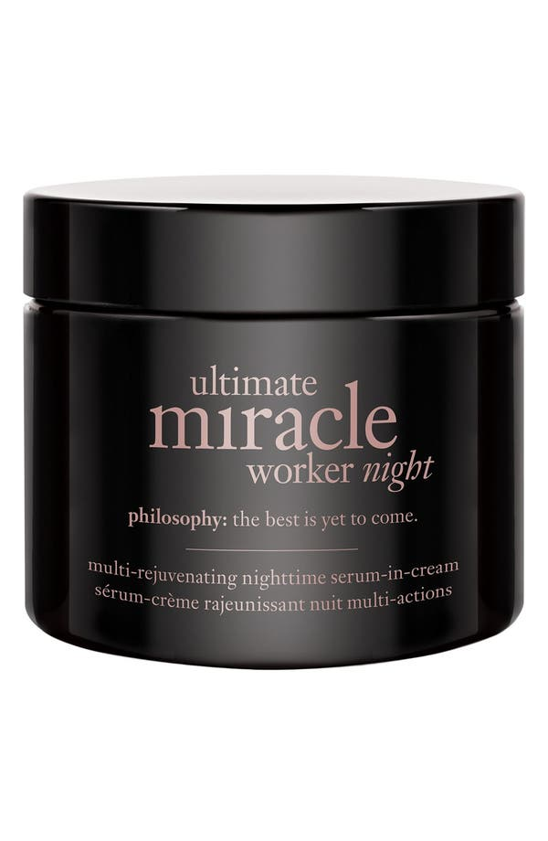 'ultimate miracle worker night' multi-rejuvenating nighttime serum-in-cream,                         Main,                         color, No Color