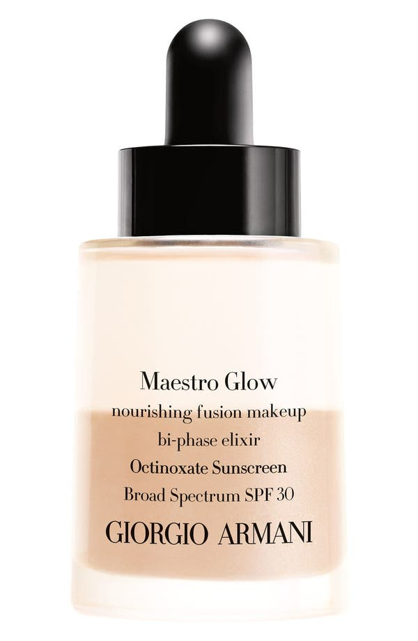 Alternate Image 1 Selected - Giorgio Armani 'Maestro Glow' Nourishing Fusion Foundation Bi-Phase Elixir Broad Spectrum SPF 30