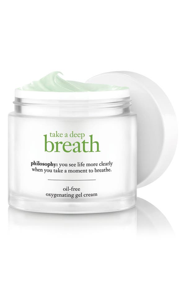 take a deep breath oil-free oxygenating gel cream,                         Main,                         color, No Color