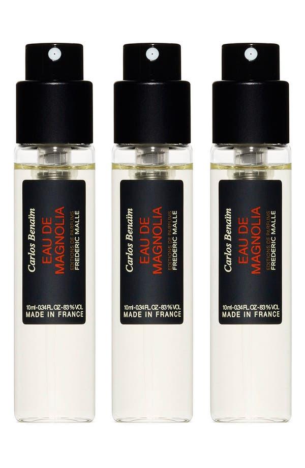 Main Image - Editions de Parfums Frédéric Malle Eau de Magnolia Fragrance Travel Spray Trio