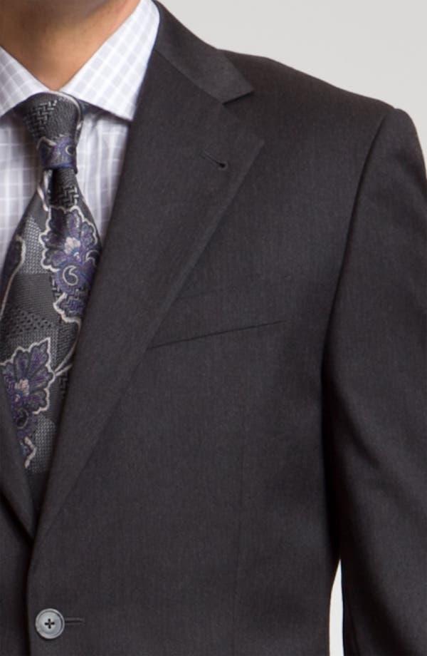 Alternate Image 6  - Joseph Abboud 'Signature Silver' Dark Grey Wool Suit
