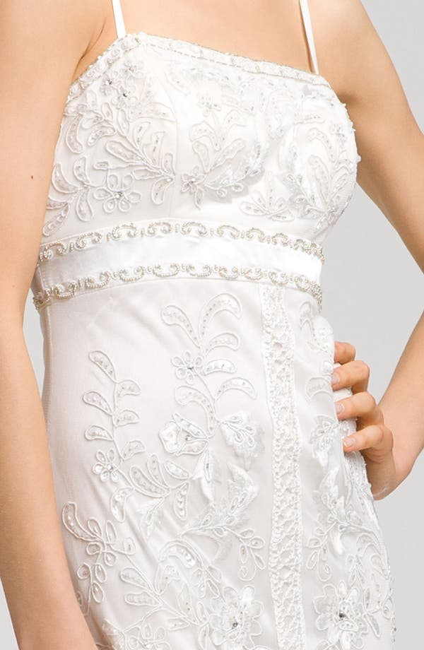 Alternate Image 2  - Sue Wong Spaghetti Strap Embroidered Gown