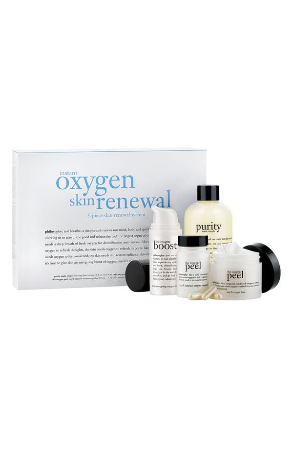 Main Image - philosophy 'instant oxygen skin renewal' set ($125 Value)