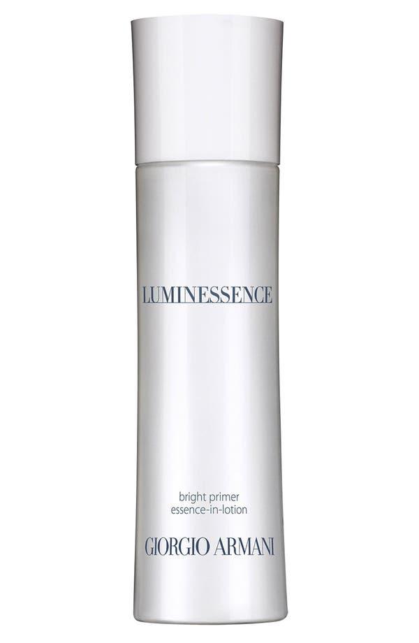 Alternate Image 1 Selected - Giorgio Armani 'Luminessence' Bright Primer Essence-in-Lotion