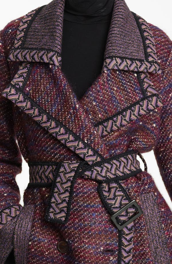 Alternate Image 3  - Missoni Belted Tweed Coat