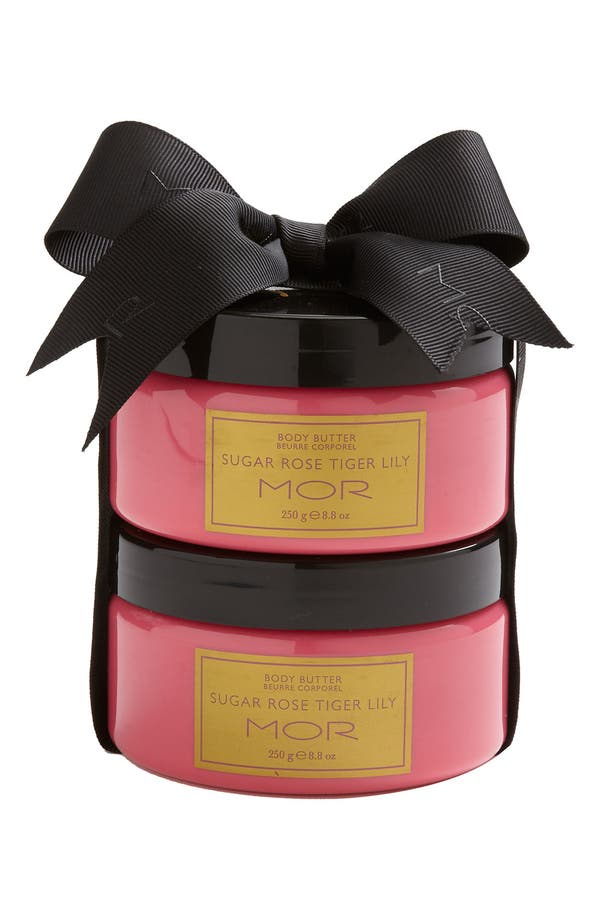 Alternate Image 1 Selected - MOR 'Essentials - Sugar Rose Tiger Lily' Body Butter Duo ($32 Value)