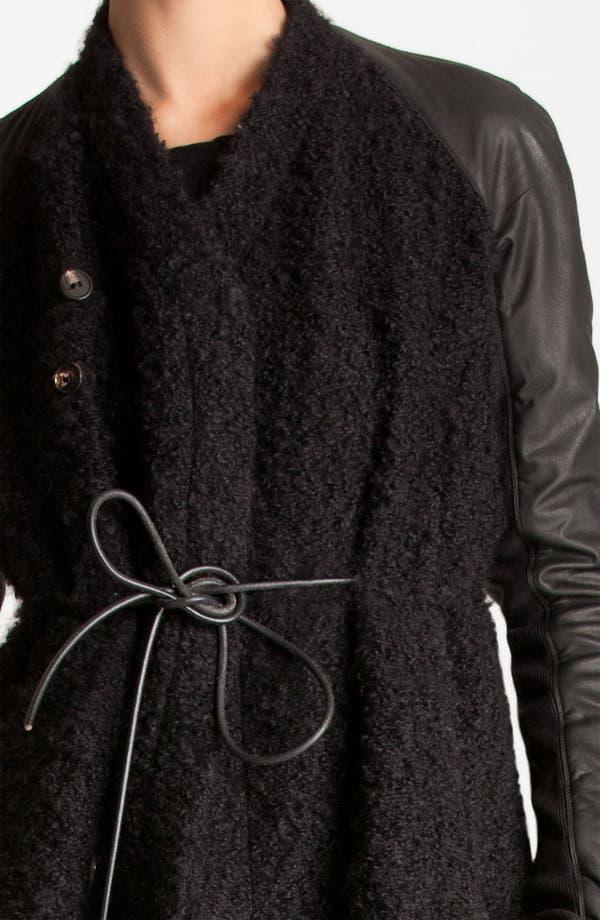 Alternate Image 4  - Rick Owens Long Leather Trim Coat