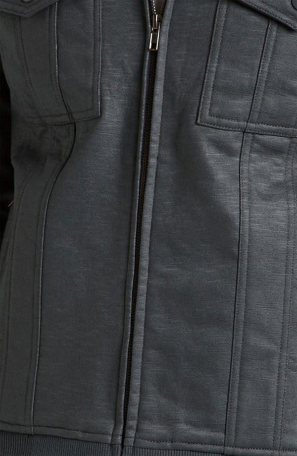 Alternate Image 3  - Kane & Unke Trim Fit Coated Moto Jacket