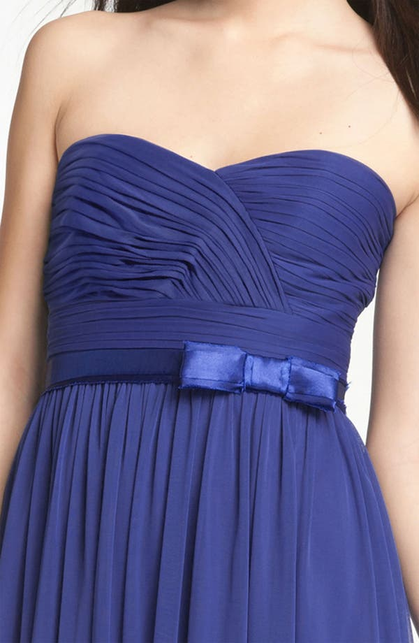 Alternate Image 3  - ML Monique Lhuillier Bridesmaids Sweetheart Chiffon Dress (Nordstrom Exclusive)