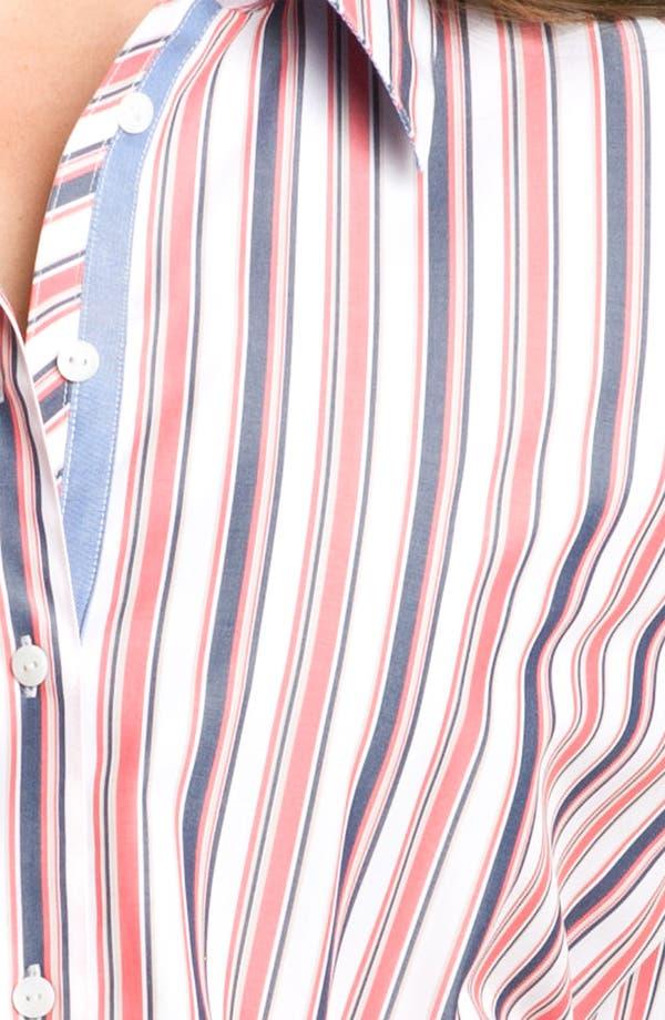 Alternate Image 3  - Foxcroft 'Summer Stripe' Blouse (Plus)