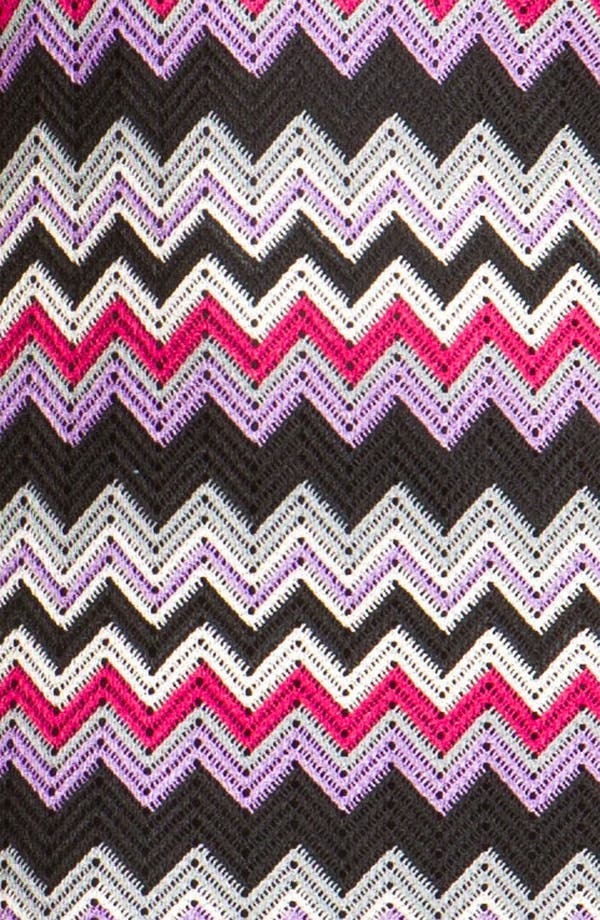 Alternate Image 3  - Donna Ricco High Neck Zigzag Shift Dress