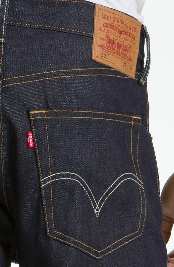 Alternate Image 4  - Levi's '501®' Straight Leg Jeans (Rigid Selvedge)