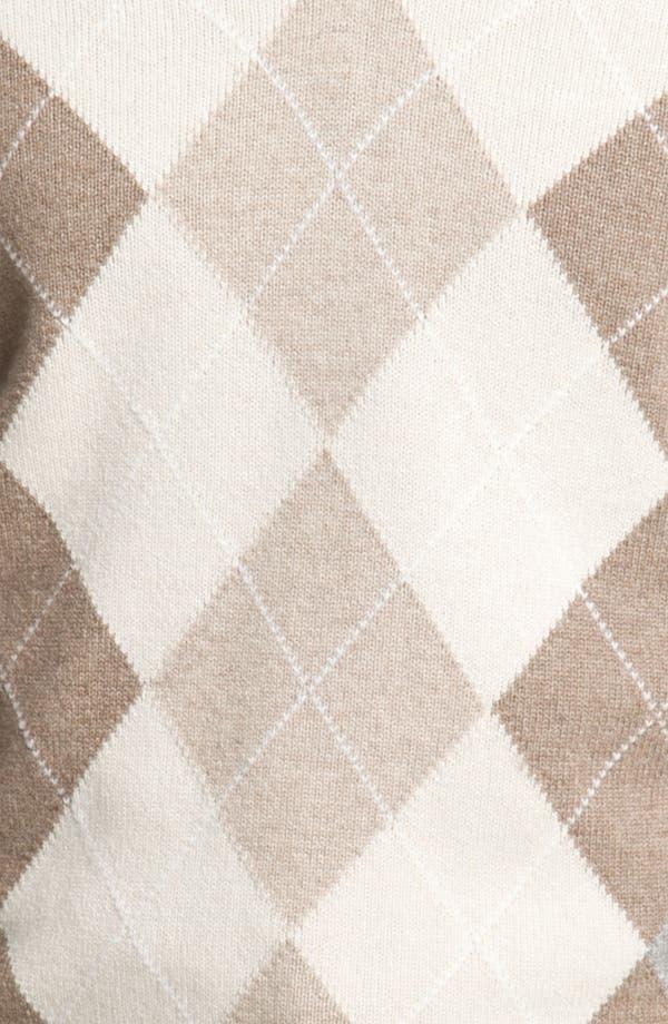 Alternate Image 3  - MacAlan Argyle Front Cashmere Sweater