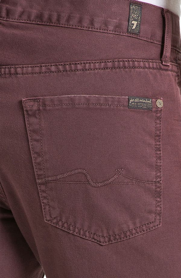 Alternate Image 3  - 7 For All Mankind® 'Slimmy' Slim Straight Leg Jeans (Dark Merlot)