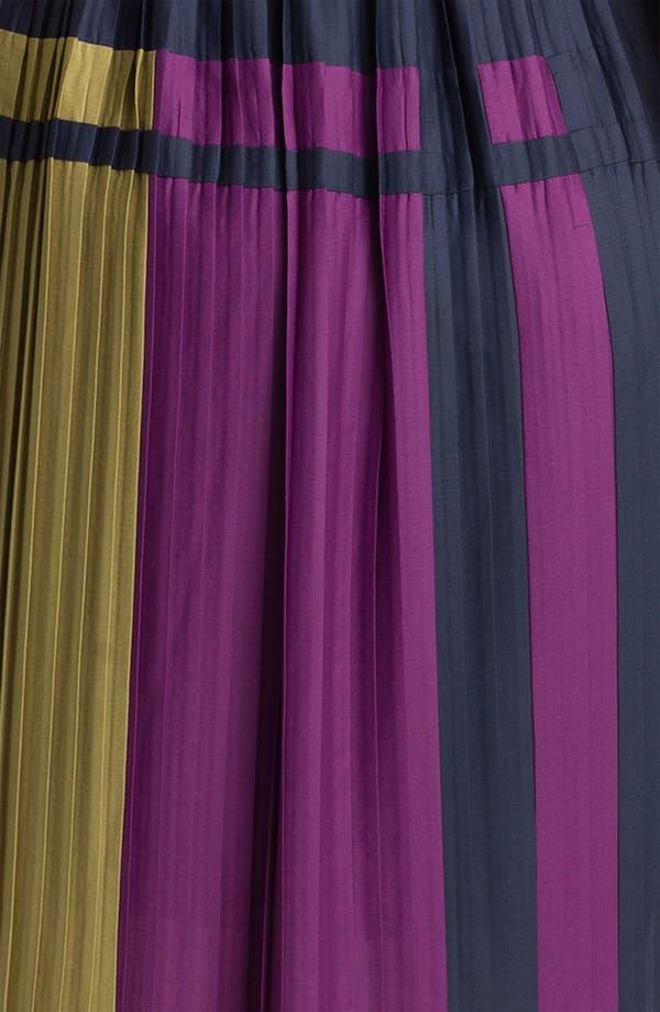 Alternate Image 3  - BCBGMAXAZRIA Pleated Colorblock Chiffon Dress