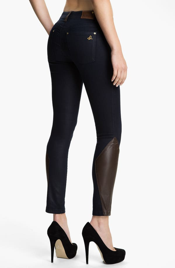 Alternate Image 2  - DL1961 'Emma' Leather Skinny Jeans (Cocktail)