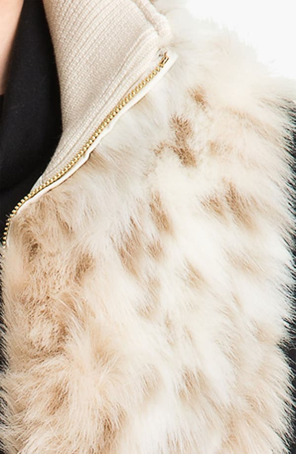 Alternate Image 3  - Ellen Tracy Faux Snow Leopard Vest