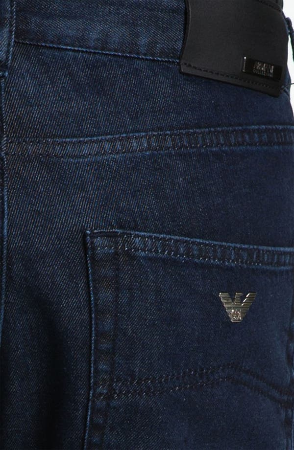 Alternate Image 4  - Armani Collezioni Straight Leg Jeans (Navy Wash)