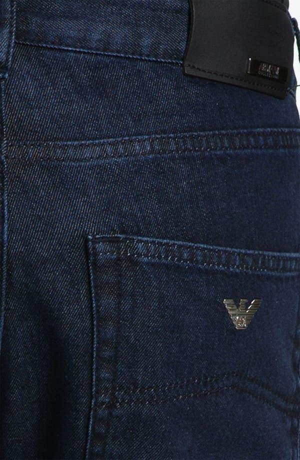 Alternate Image 4  - Armani Collezioni Straight Leg Jeans (Navy Wash)