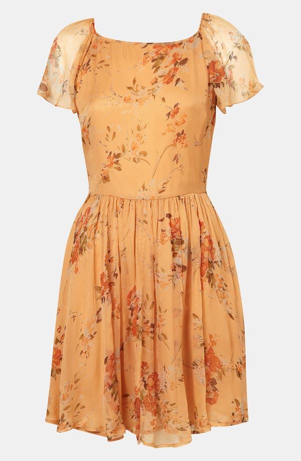 Alternate Image 1 Selected - Topshop 'Autumn Meadow' Print Dress