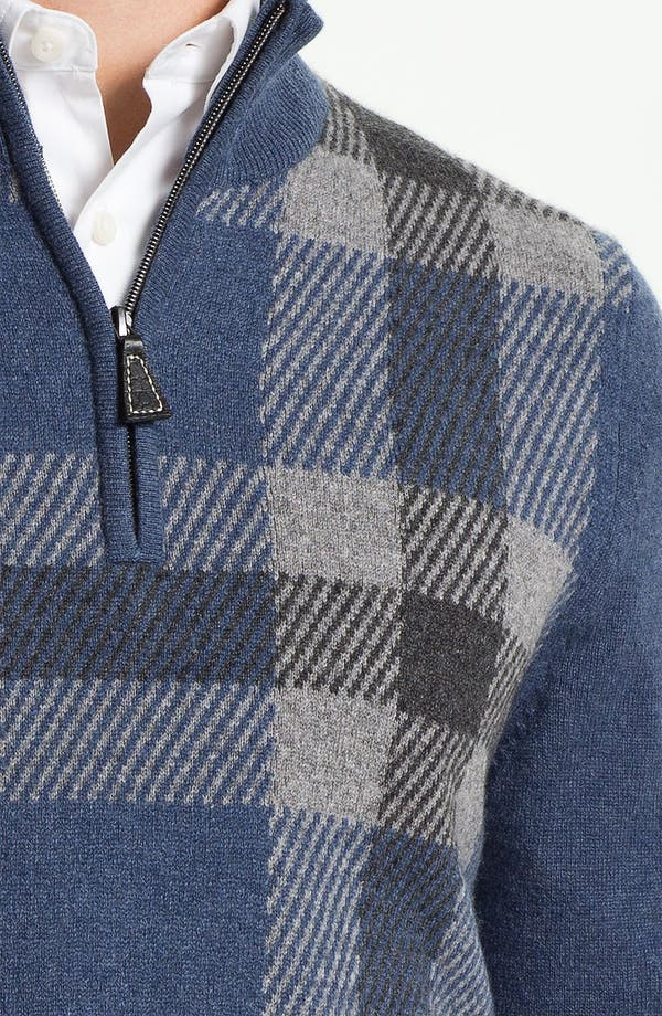 Alternate Image 3  - John W. Nordstrom® Quarter Zip Cashmere Sweater