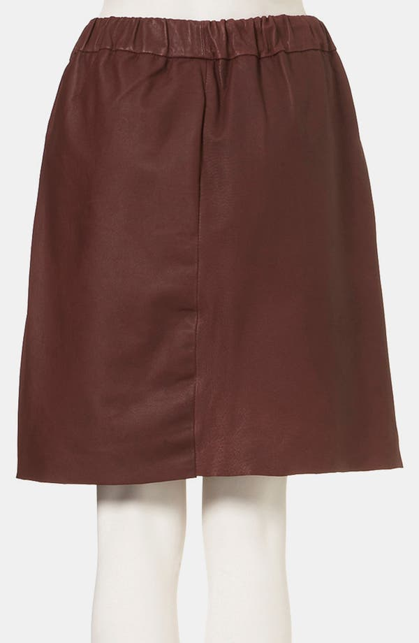 Alternate Image 2  - Topshop Boutique Leather Skirt