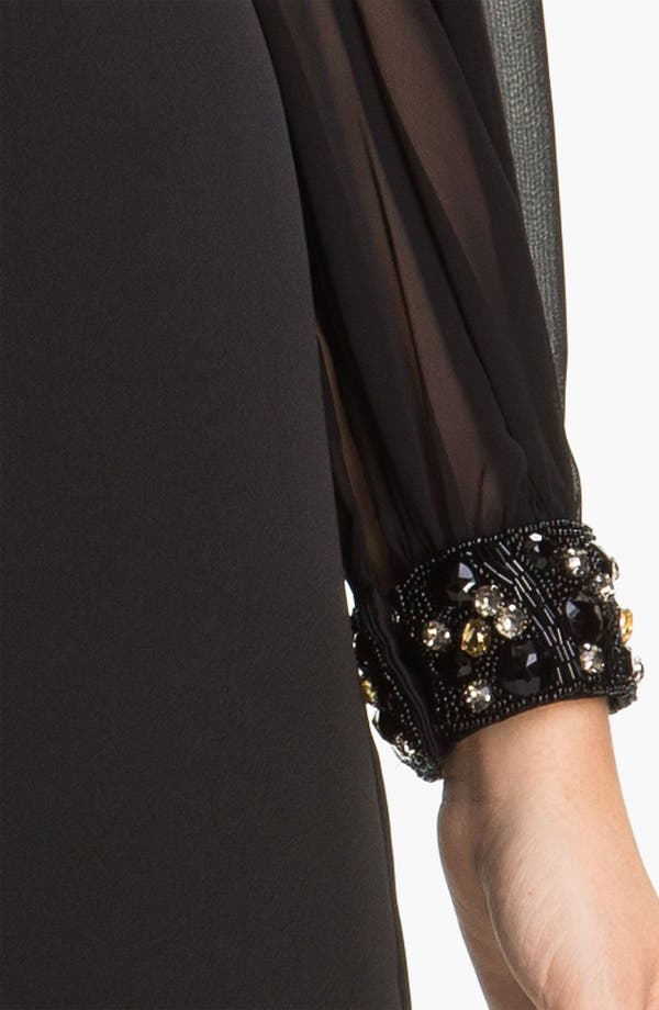 Alternate Image 3  - Eliza J Chiffon Split Sleeve Crepe Shift Dress