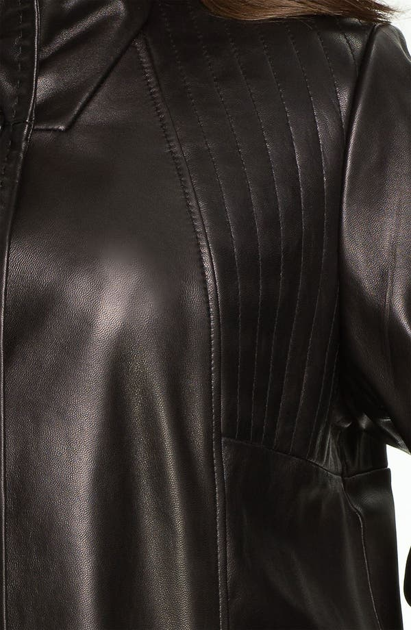 Alternate Image 3  - Ellen Tracy Button Up Leather Jacket (Plus) (Nordstrom Exclusive)