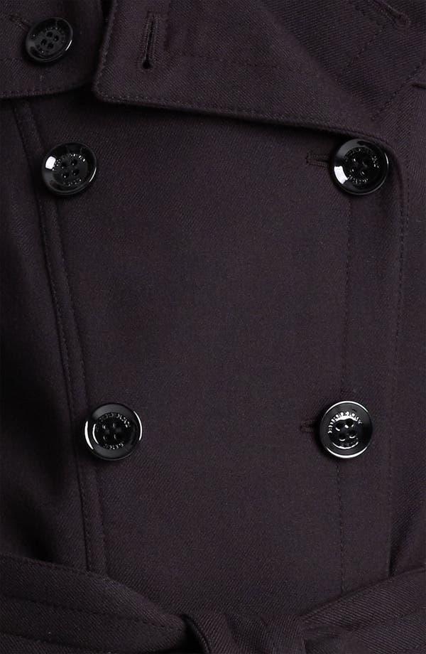 'Yarrowfield' Lambskin Sleeve Trench,                             Alternate thumbnail 3, color,                             Black Pearl