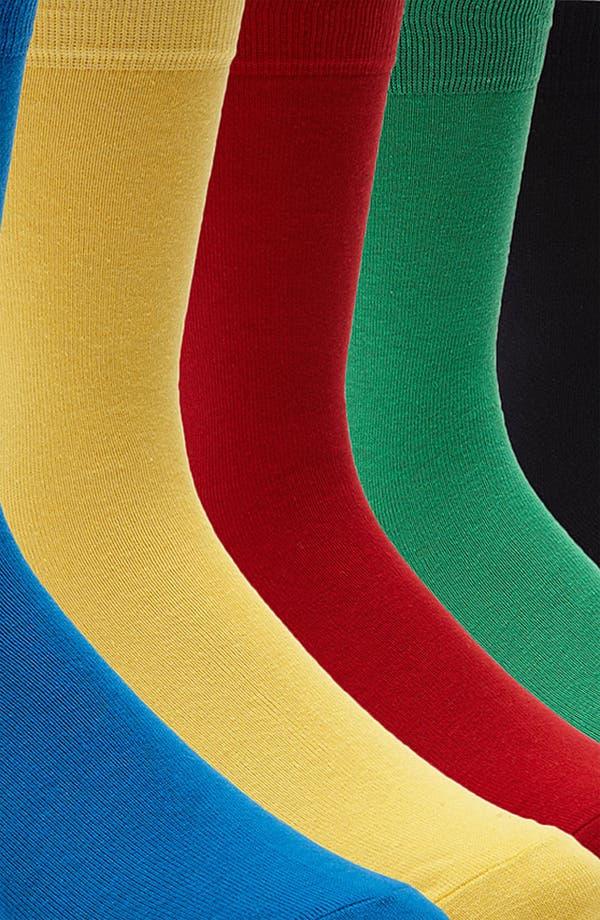 Alternate Image 2  - Topman Bright Socks (5-Pack)