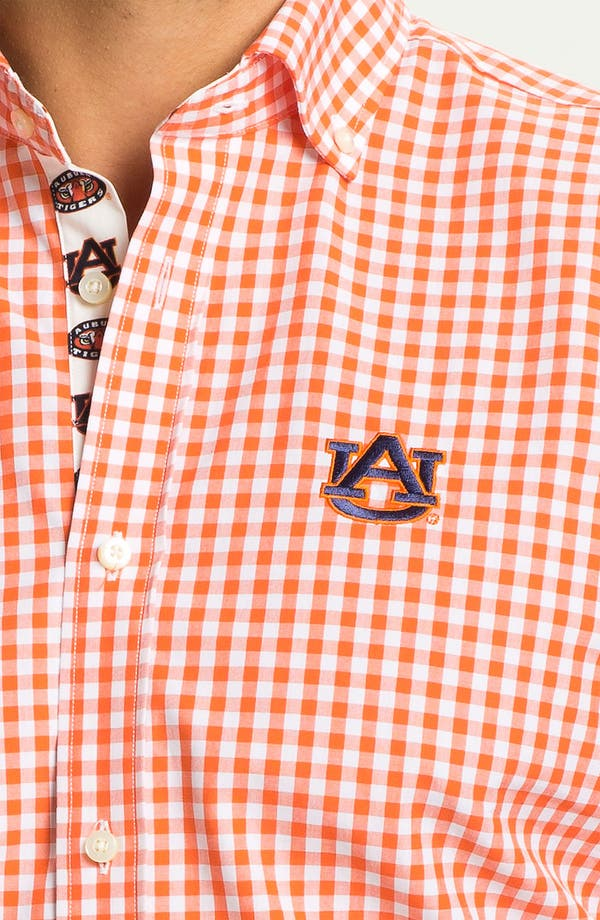 Alternate Image 3  - Thomas Dean 'Auburn University' Regular Fit Sport Shirt (Online Only)