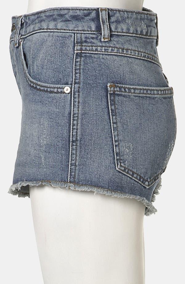 Alternate Image 4  - Topshop Moto 'Holly' Denim Shorts