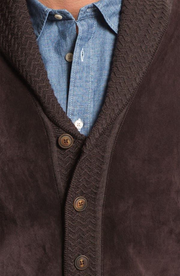Alternate Image 3  - Hickey Freeman Shawl Collar Suede & Wool Cardigan