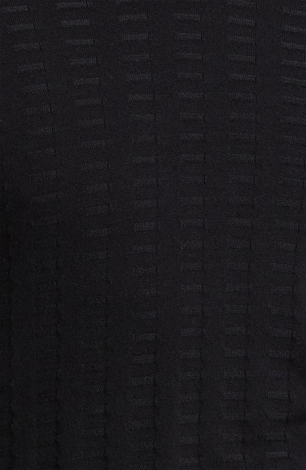 Alternate Image 3  - Armani Collezioni V-Neck Textured Knit Sweater