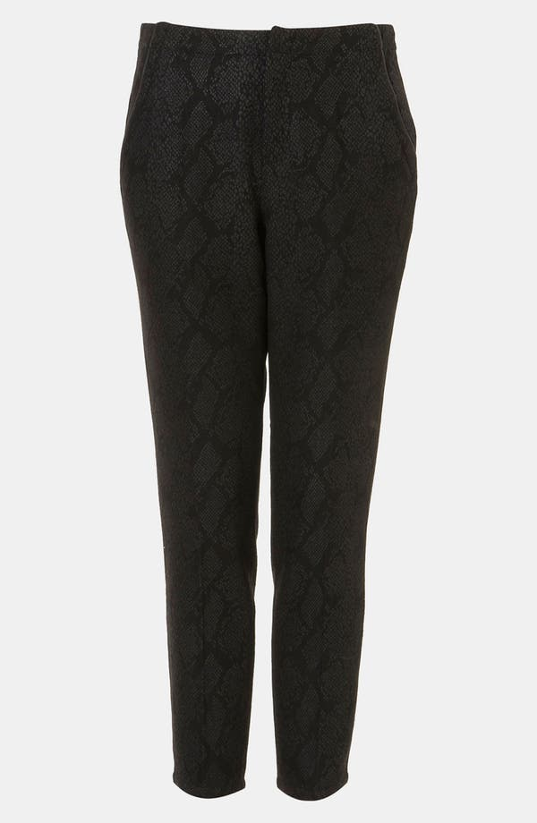 Alternate Image 1 Selected - Topshop Snake Print Crop Cigarette Pants