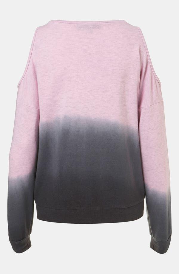 Alternate Image 2  - Topshop Dip Dye Chain Trim Sweatshirt (Petite)