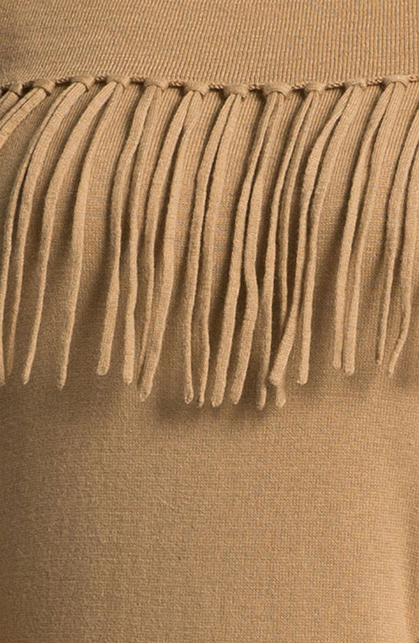 Alternate Image 3  - MICHAEL Michael Kors Fringed Cowl Sweater (Plus)