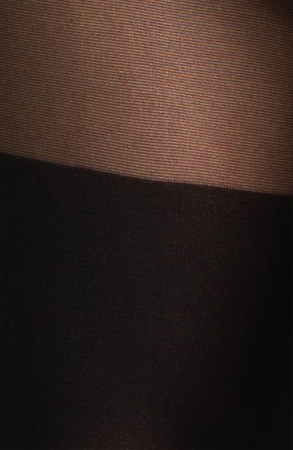 Alternate Image 2  - Hot Sox 'Blocked Knee' Sheer Tights