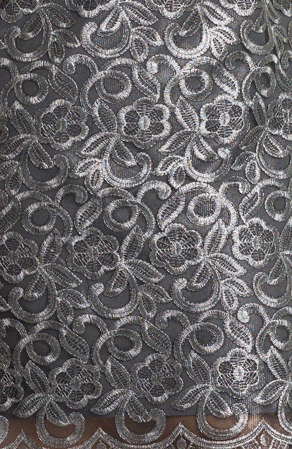 Alternate Image 3  - Donna Ricco Illusion Bodice Sleeveless Sheath Dress (Plus)
