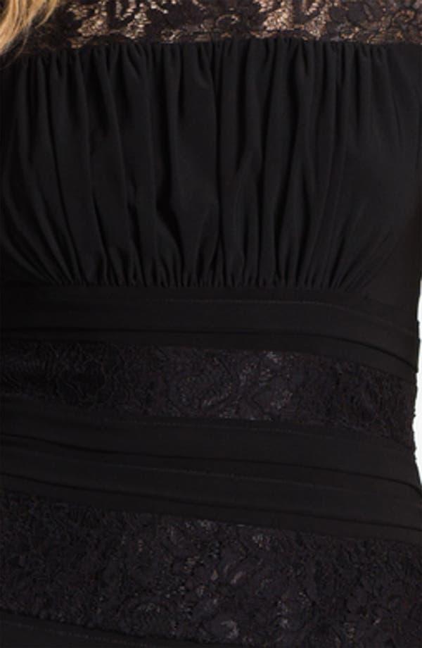 Alternate Image 3  - Adrianna Papell Illusion Yoke Pleated Jersey Dress
