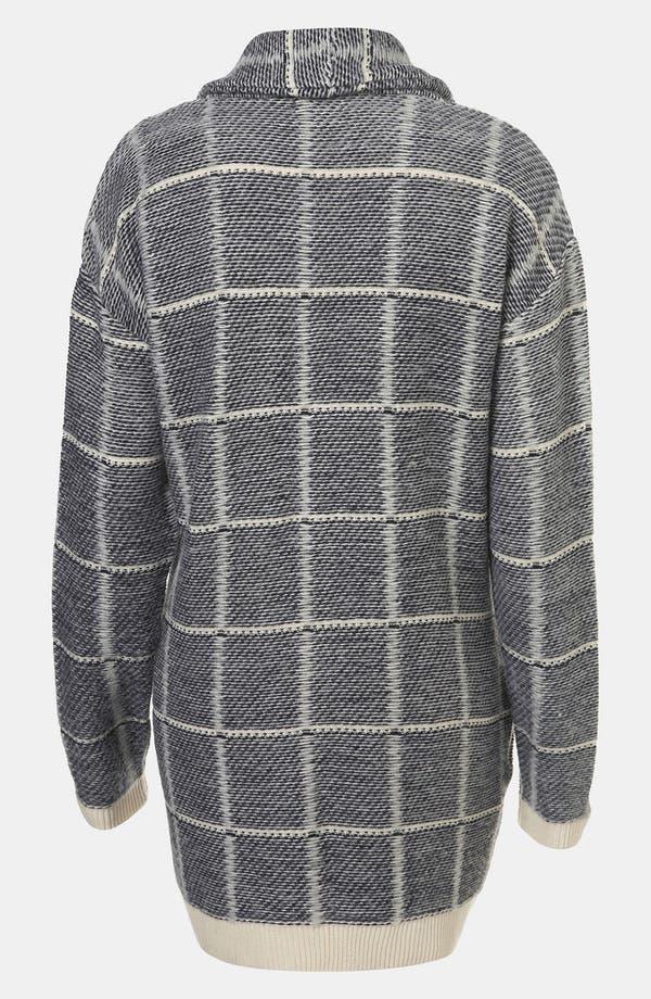 Alternate Image 2  - Topshop Brushed Grid Cardigan
