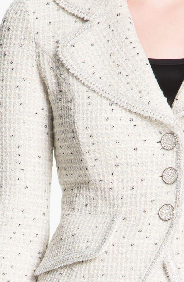 Alternate Image 5  - St. John Collection Shimmer Dot Tweed Jacket