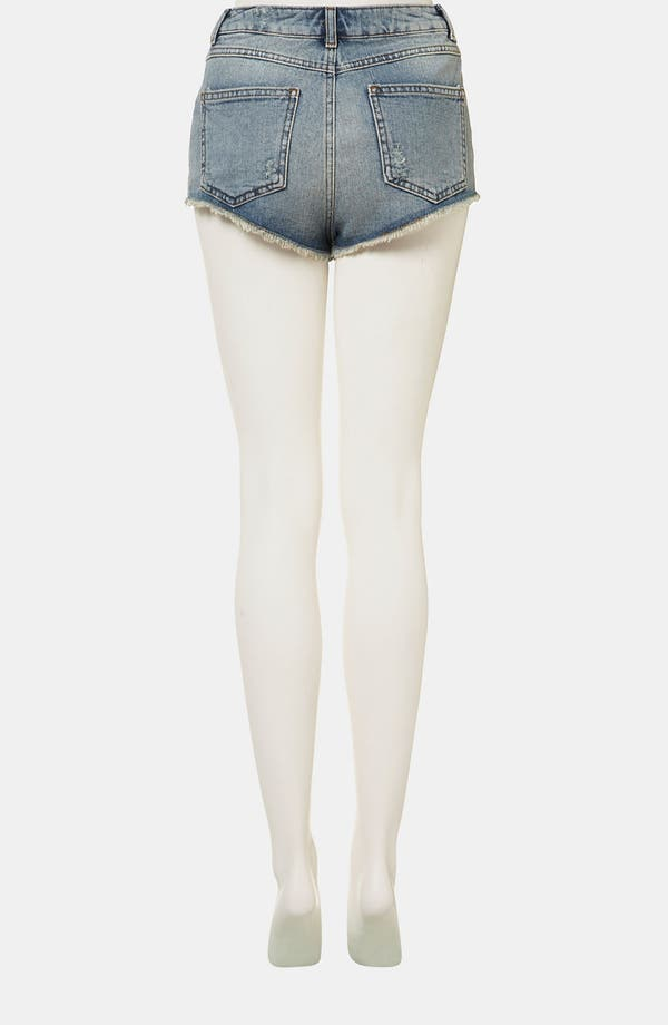 Alternate Image 2  - Topshop Moto 'Holly' Studded Denim Shorts