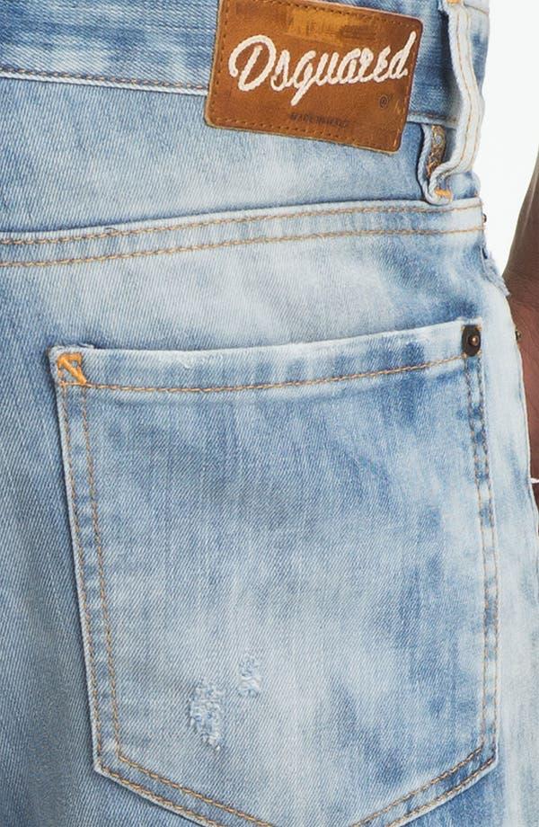 Alternate Image 4  - Dsquared2 Slim Fit Jeans (Bleach Blue)