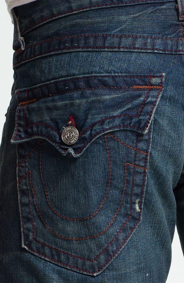 Alternate Image 4  - True Religion Brand Jeans 'Ricky' Straight Leg Jeans (Dark Drifter)